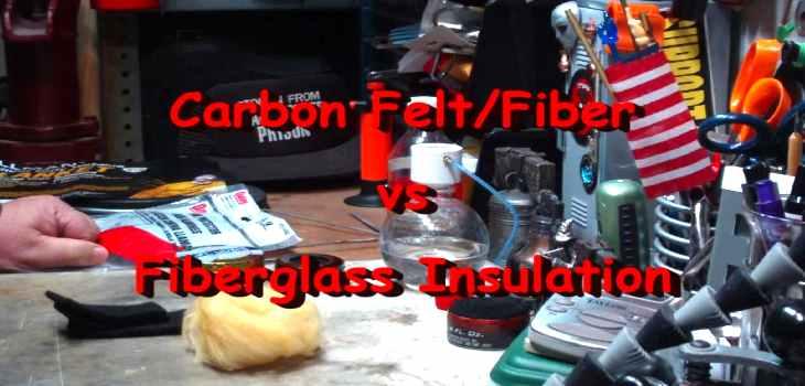 Best Alcohol Stove Material Carbon Felt vs Fiberglass Insulation
