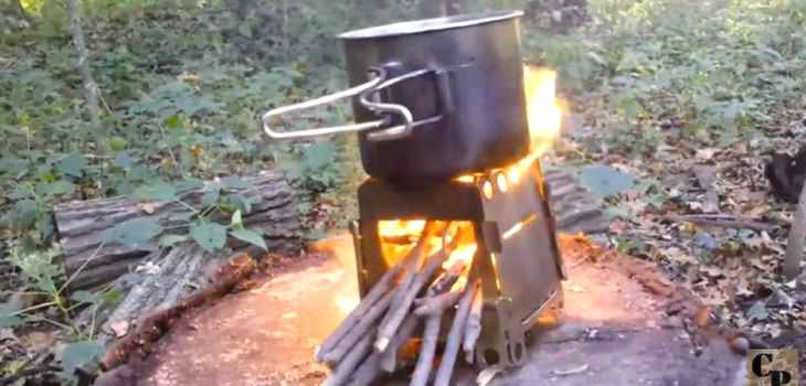Cheap wood pack stove test