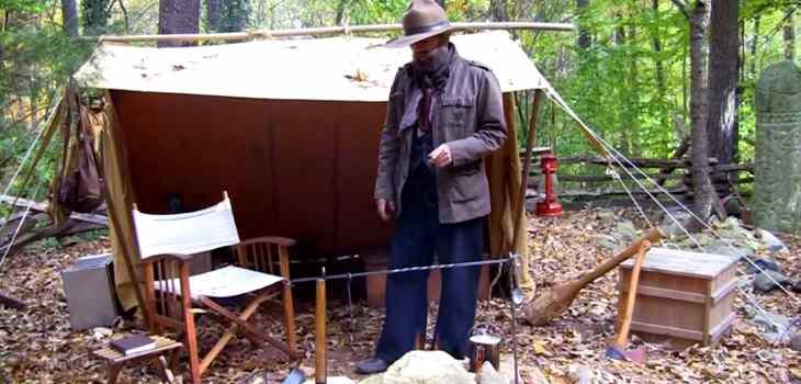 Steve Watts campsite setup