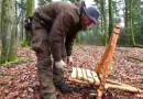 DIY bushcraft chair camping