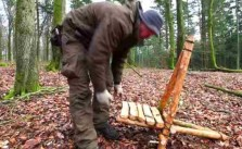 DIY bushcraft chair camping