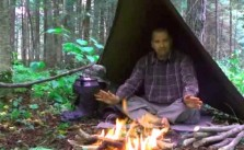 How to set up tarp shelter with fire