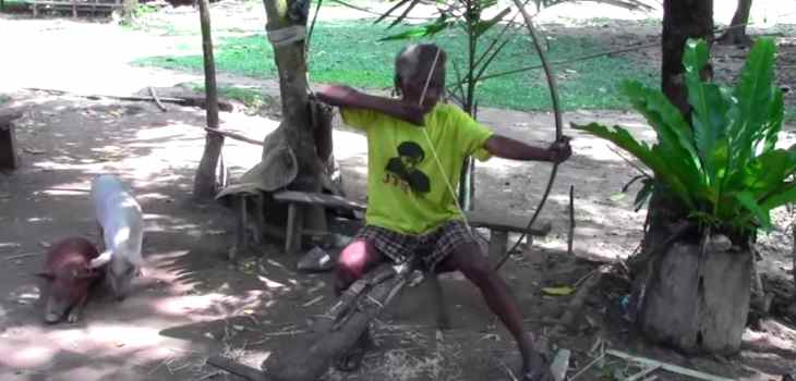 Primitive Jungle Survival Bow and Arrow