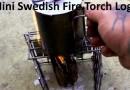 Mini Swedish Fire Torch Log
