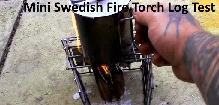 Mini Swedish Fire Torch Log