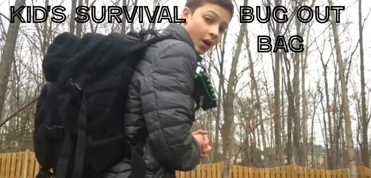 Kids survival bug out bag