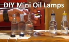 Homemade DIY mini oil lamps