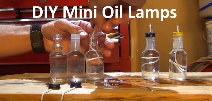 Homemade DIY mini oil lamps